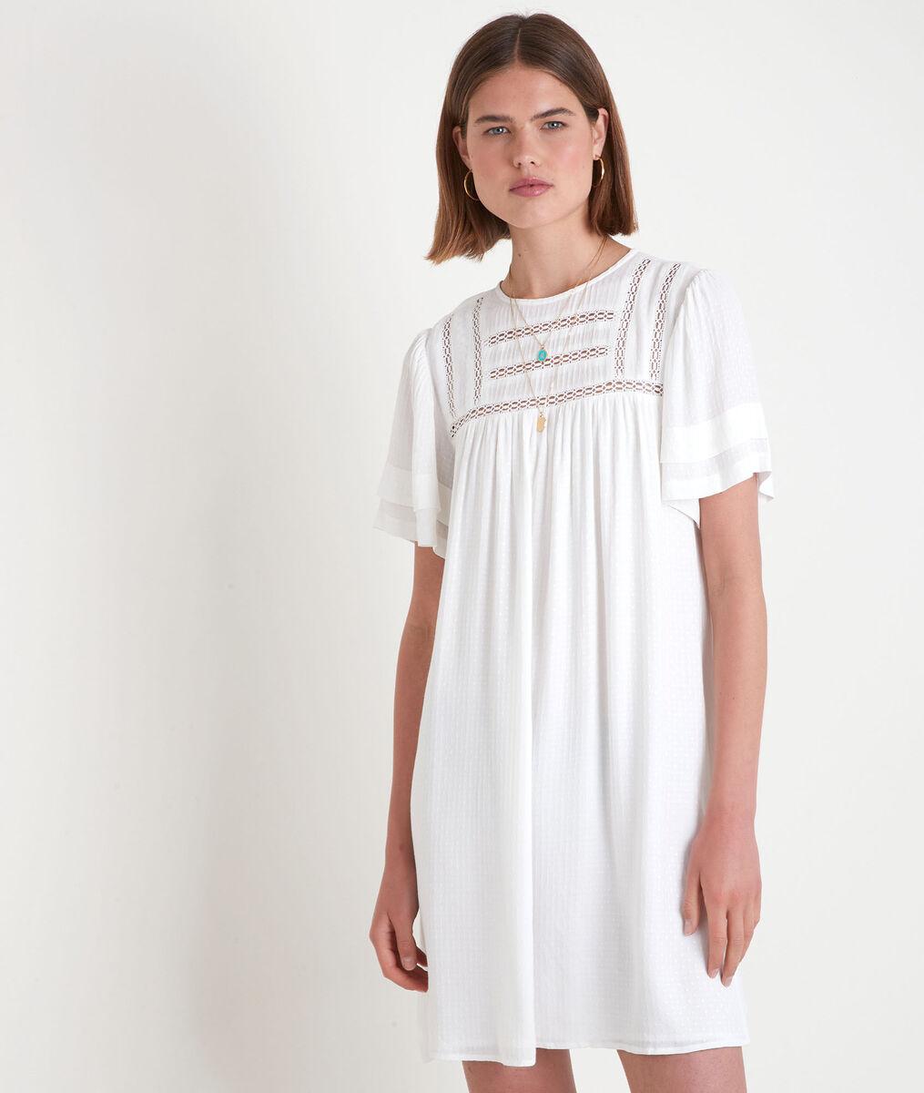 Robe ample avec dentelle blanche Sarah PhotoZ | 1-2-3