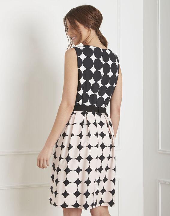 Robe noir & blanc imprimé pois Hisis (4) - Maison 123