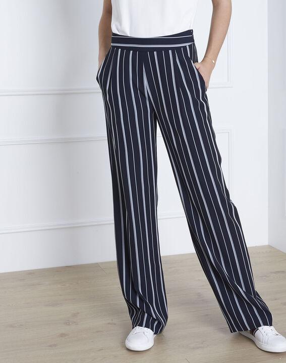 Pantalon marine rayé Greta (2) - Maison 123