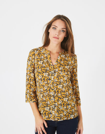 Arletty bis yellow printed blouse (2) - 1-2-3
