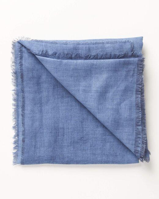 Blaues einfarbiges Halstuch Amadou (2) - 1-2-3