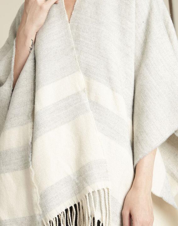 Fadila grey fringed poncho (2) - 1-2-3