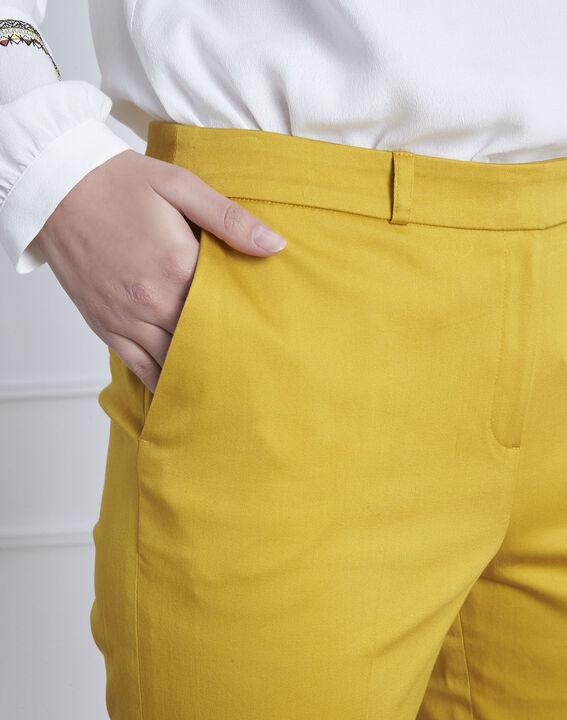 Pantalon jaune cigarette Rubis (3) - 1-2-3