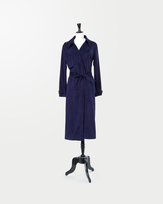 Jade royal blue long trench coat (1) - 1-2-3