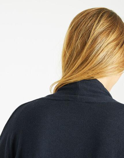 Pluton navy blue cardigan/jacket with diamanté detailing (4) - 1-2-3