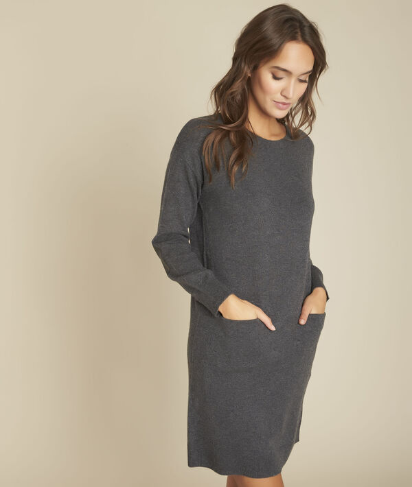 Robe en maille anthracite Ficus PhotoZ | 1-2-3