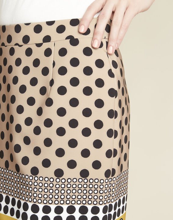 Kurtys yellow polka dot printed skirt (3) - 1-2-3