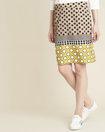 Kurtys yellow polka dot printed skirt sun.