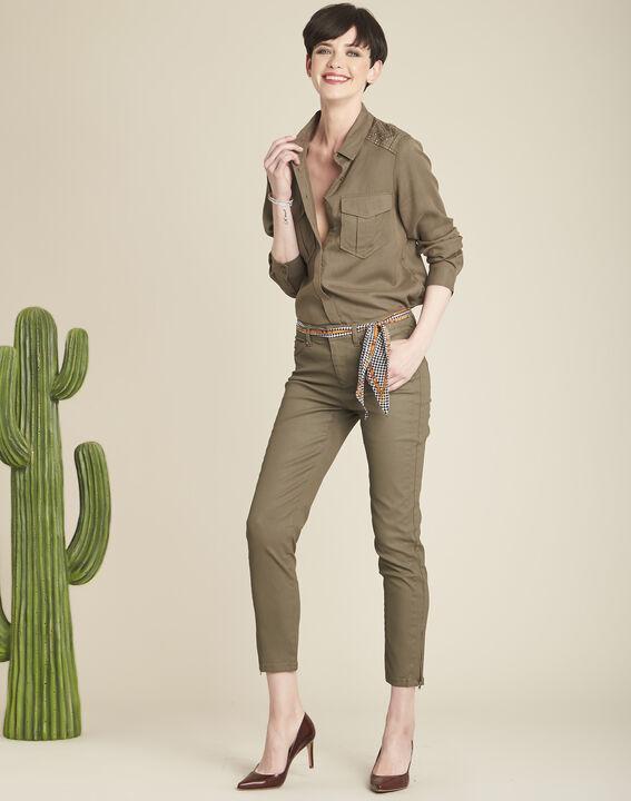 Grüne beschichtete 7/8 Slim-Fit-Jeans Opera (2) - 1-2-3