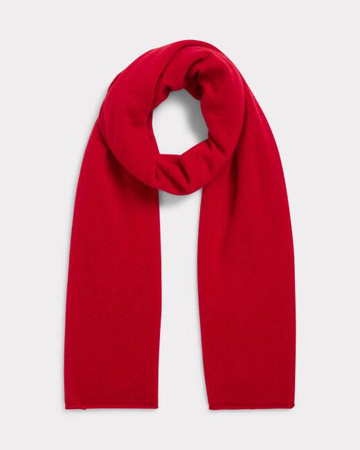 Echarpe rouge en cachemire Tournesol (1) - 1-2-3