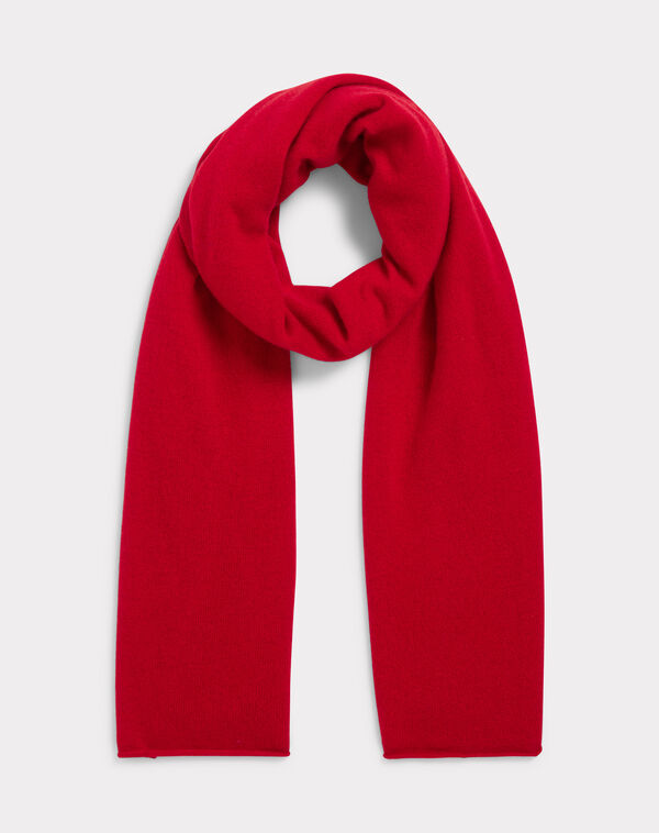 Echarpe rouge en cachemire tournesol à
