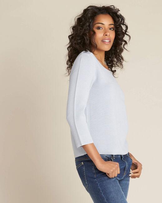 Neroli ice blue sweater with 3/4 length sleeves (2) - 1-2-3