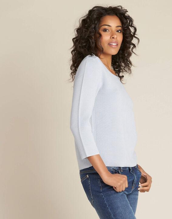 Neroli ice blue sweater with 3/4 length sleeves (3) - 1-2-3