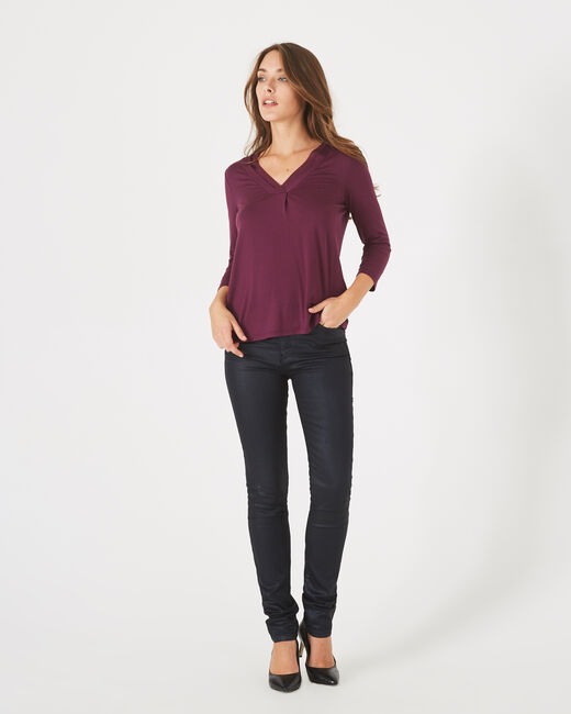 Barbara dark purple T-shirt (2) - 1-2-3