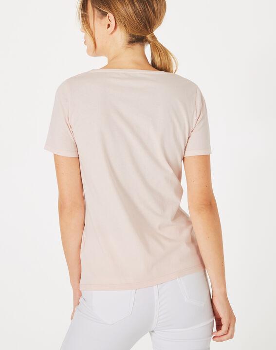 Butterfly powder pink phoenix print T-shirt (4) - 1-2-3