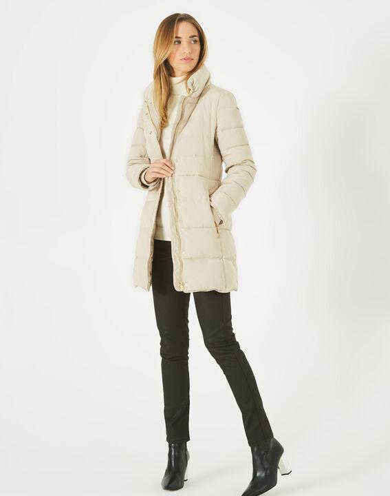 Lise mid-length cream puffer jacket (2) - 1-2-3