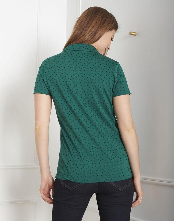 Tee-shirt vert imprimé pois Patty (4) - Maison 123