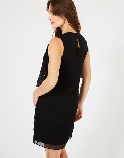 Froufrou black silk dress with flounces (3) - 1-2-3