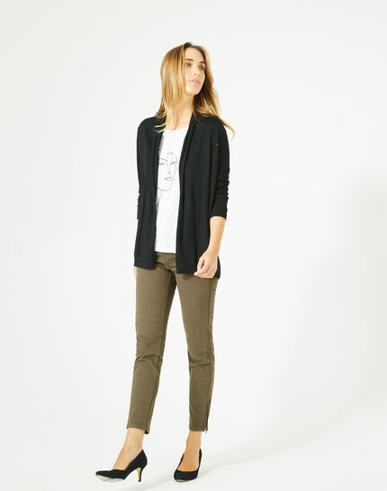 Pluton black cardigan/jacket with diamanté detailing PhotoZ | 1-2-3