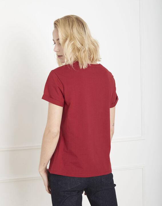 Tee-shirt rouge message Proud (4) - Maison 123