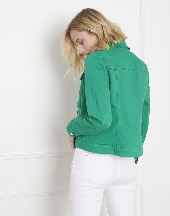 Veste en jean verte Clem (4) - Maison 123
