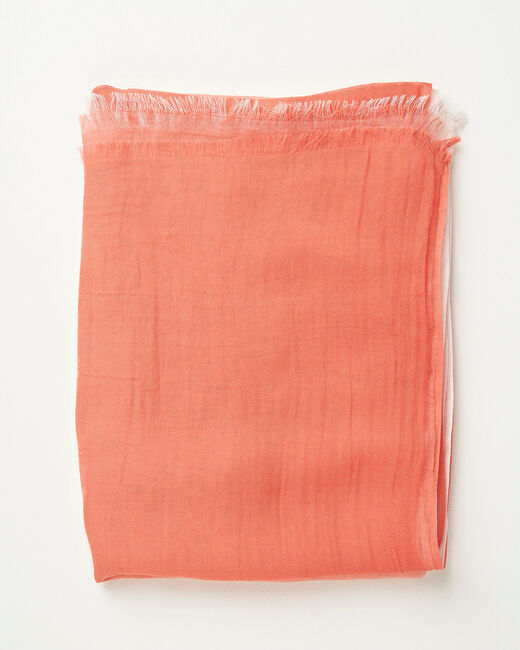 Foulard effet tye and dye corail Alexa (1) - 1-2-3