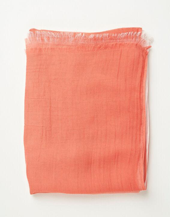 Foulard effet tye and dye corail Alexa (2) - 1-2-3