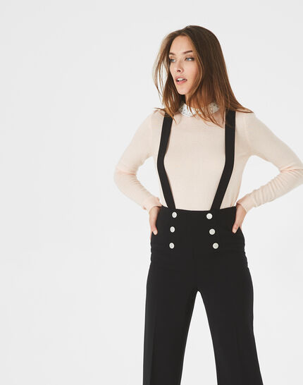 Valeur tailored black trousers with buttons and braces (2) - 1-2-3