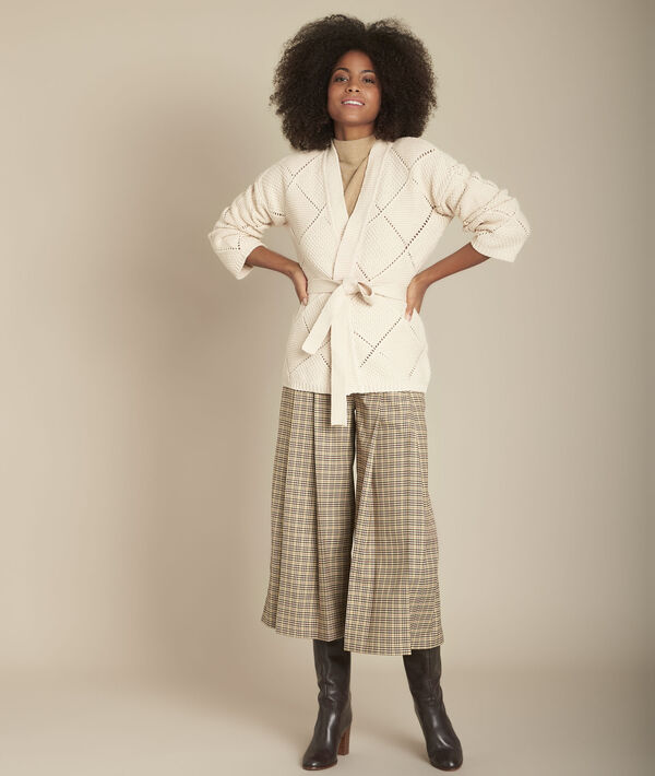 Gilet beige maille fantaisie Fashionista PhotoZ   1-2-3