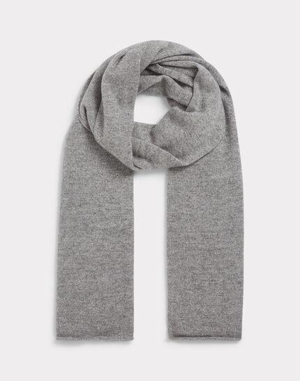 Echarpe gris chiné en cachemire tournesol