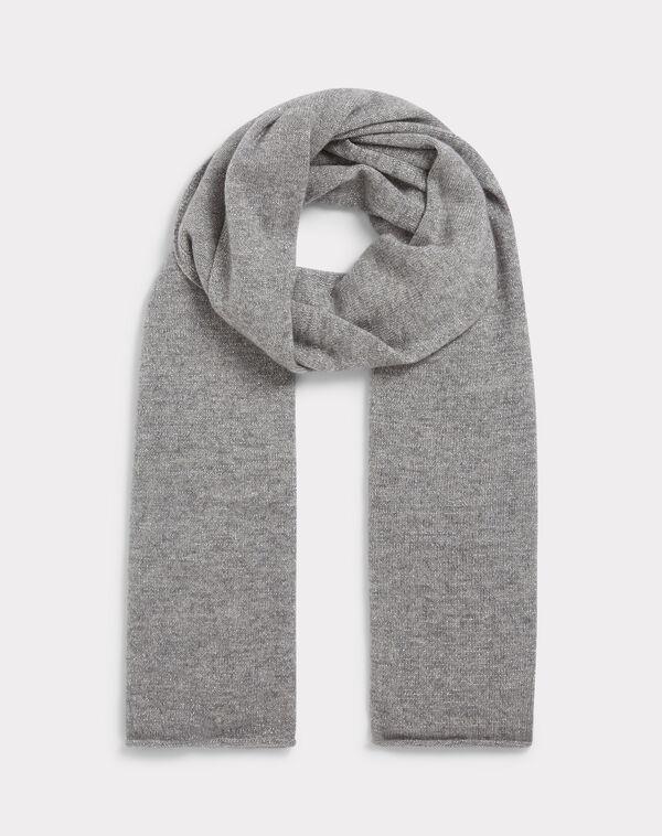 Echarpe gris chiné en cachemire tournesol à