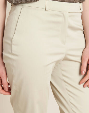 Rubis beige 7/8 length trousers string.