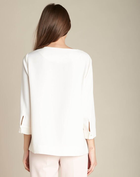 Gerry ecru blouse with jewelled detailing (4) - 1-2-3
