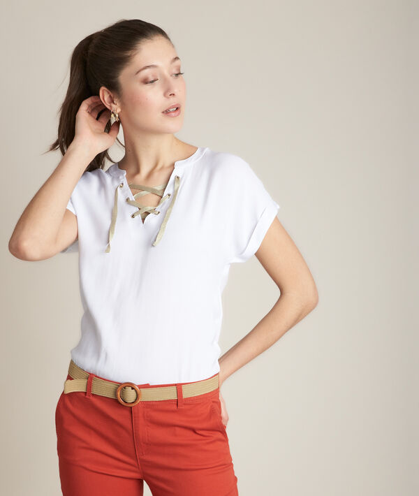 Tee-shirt blanc Reeme PhotoZ   1-2-3