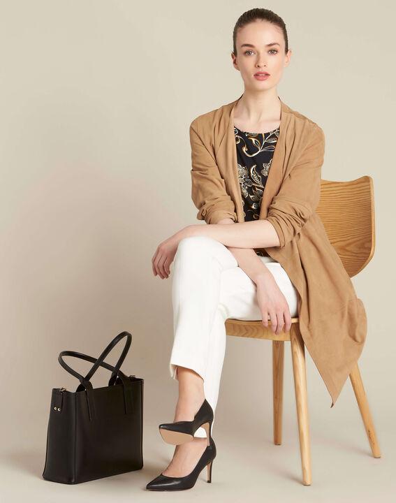 Tee-shirt noir imprimé foulard Encens (2) - 1-2-3