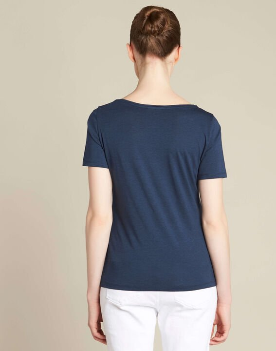 Envol navy blue bird printed T-shirt (4) - 1-2-3