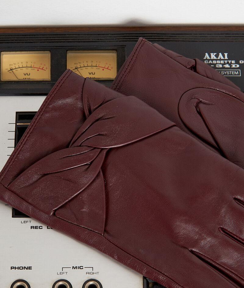 Gants en cuir bordeaux Willa PhotoZ | 1-2-3