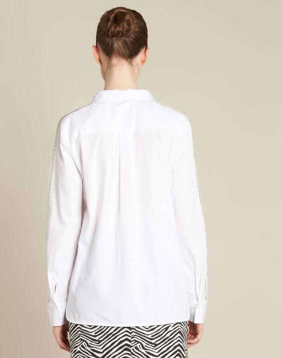 Davina ecru shirt with guipure lack inserts (4) - 1-2-3