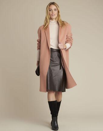 Manteau rose double face en laine edgar primerose.