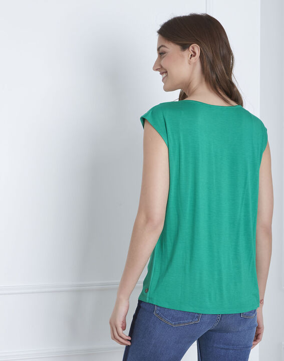 Grüne Bluse aus Bi-Material Neptune (4) - Maison 123
