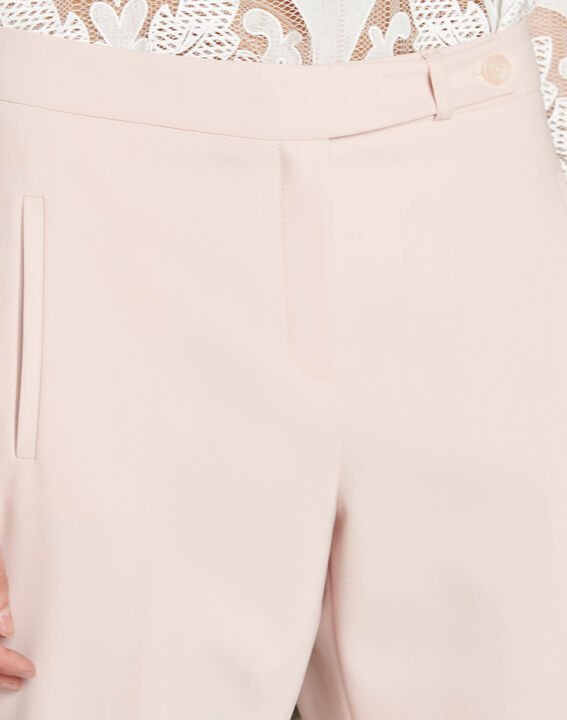 Lara nude slim-cut fitted trousers PhotoZ | 1-2-3
