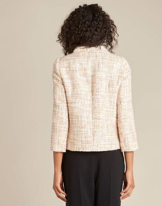 Cookie short cream tweed jacket (4) - 1-2-3