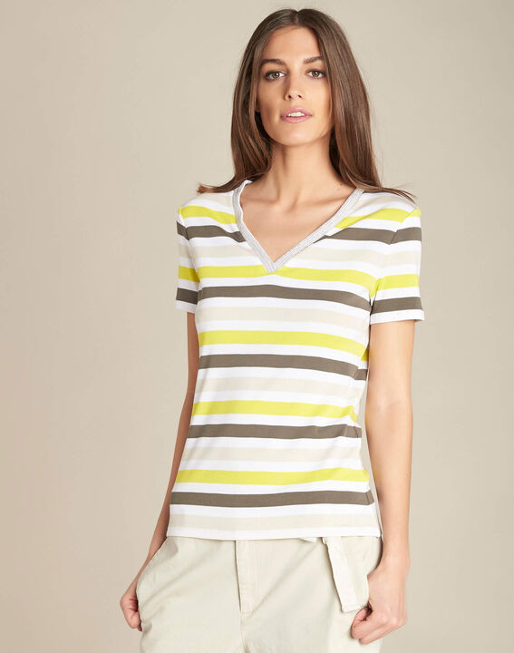 Embruns khaki striped T-shirt (3) - 1-2-3