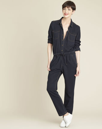 Cassis navy denim blouse navy.