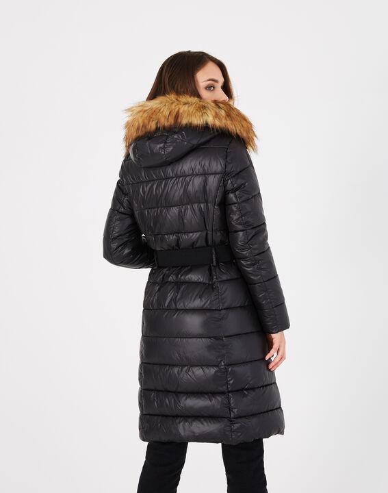 Louna long black puffer jacket with faux fur (4) - 1-2-3