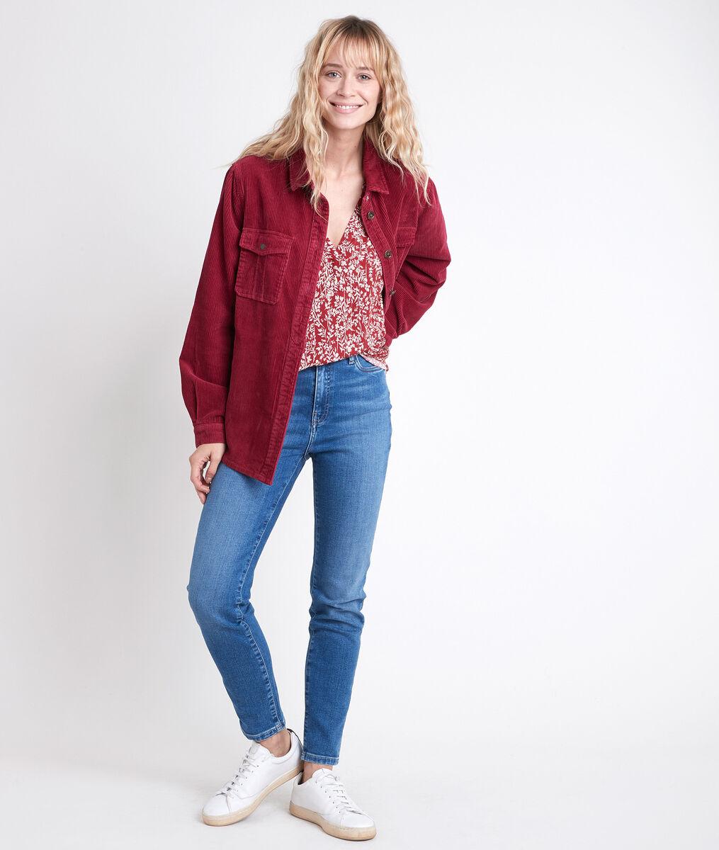 Blouse rouge imprimé fleuri Elsa PhotoZ | 1-2-3