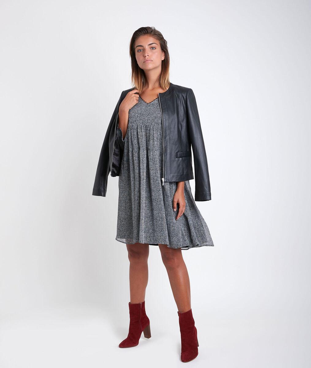 Veste en cuir noire Livia PhotoZ | 1-2-3