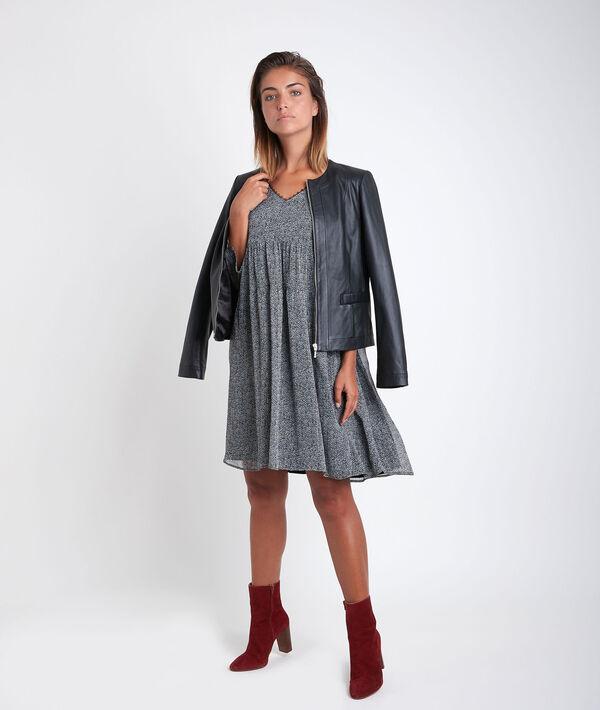Veste en cuir noire Livia PhotoZ   1-2-3