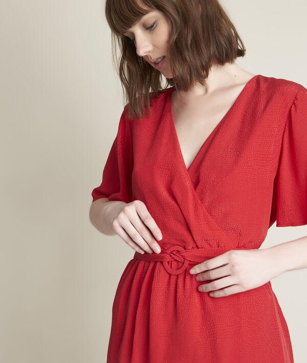 Robe en soie jacquard Carly PhotoZ | 1-2-3