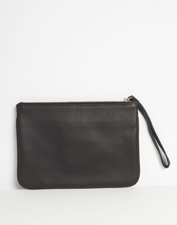 Droopy animal print clutch with leather straps PhotoZ | 1-2-3